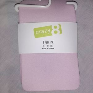 NEW Crazy 8 Pink Lightweight Tights Girl 10 12 NWT